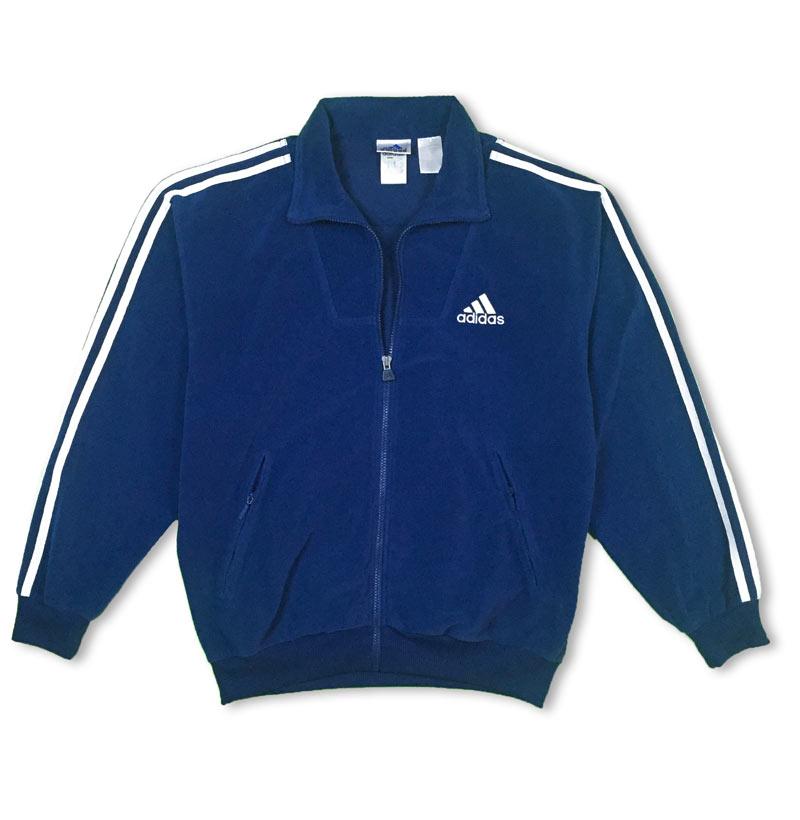 adidas vintage bleu marine veste